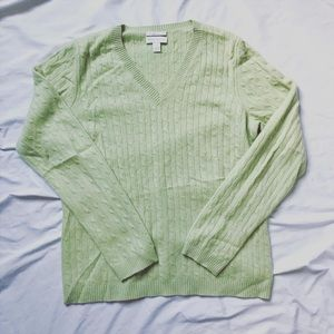 Lime Green Charter Club Cashmere Sweater
